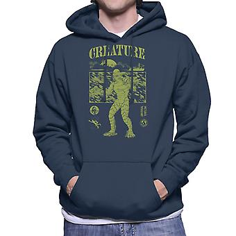 The Creature From The Black Lagoon Sunset Boat Men's Hooded Sweatshirt