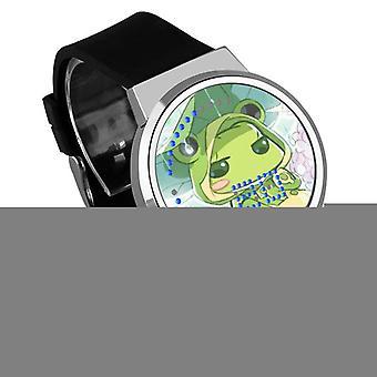 Nepremokavé svetelné LED digitálne dotykové detské hodinky - Cestovanie žaba #54