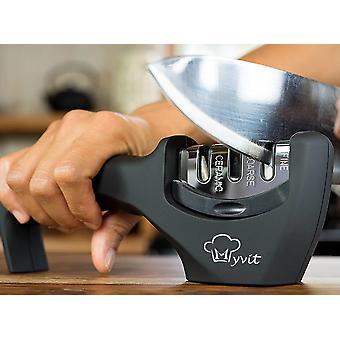 Knife Sharpener 3 Stages Professional Kitchen Sharpening Stone - Tungsten