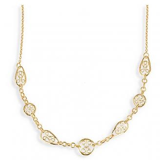 Gold-plated necklace 45cm