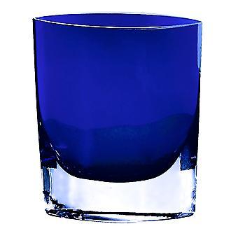 """Samantha Cobalt Blue European Mouth Blown Glass 8"""" Vaso a forma tascabile"""