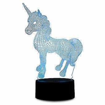 Aquarius Farbe ändern 3D Einhorn LED Hologramm Nachtlicht