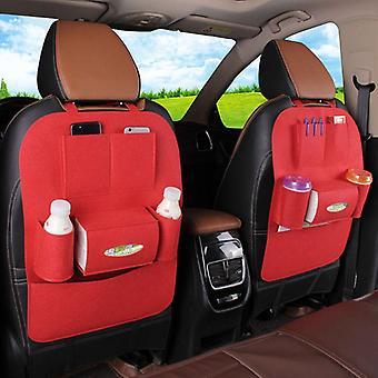 Auto back seat storage bag Automobile Multi Pocket Organizer Kids Kick Protector