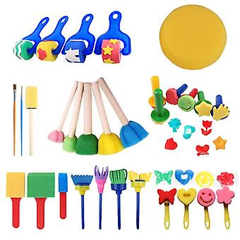 30 Pcs/set Sponge Paint Brushes Drawing Tools