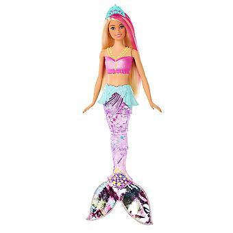 Barbie gfl82 dreamtopia szikrázó sellő baba, úszás mozgás és víz alatti fény mutatja, appro