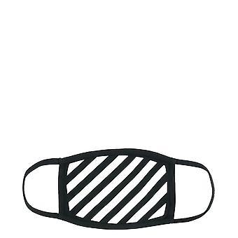 Off-white Omrg001r21jer0051001 Men's White/black Cotton Eye Mask