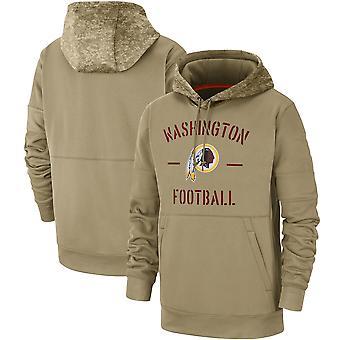 Men's Washington Redskins Slant Strike Tri-Blend Raglan Pullover Hoodie Top WYG033