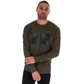 Sweat-shirt Jack Jones Tonal Logo Crew en vert