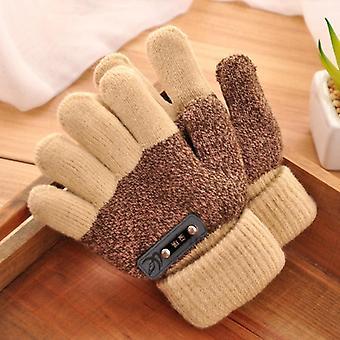 Inverno Ispessire caldo cotone idrofilo maglia full finger guanti guanto morbido