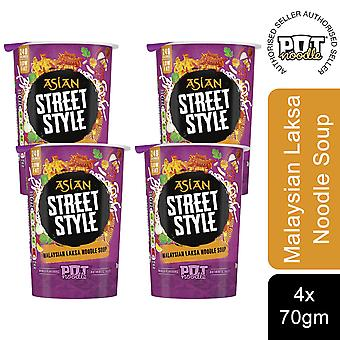4 Pack Topf Nudel Mini Tasse, malaysische Laksa Curry Nudelsuppe, 70g