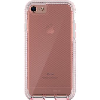 Tech21 Evo Check FlexShock Case for iPhone 8, iPhone 7 - Light Rose Tint/White