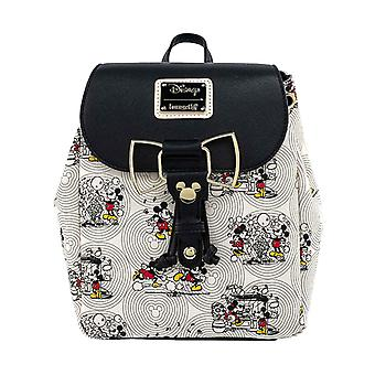 Disney Backpack Minnie and Mickey Golden Bow new Official Loungefly