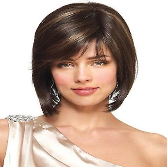 Wigs for Women Side Bangs Mixed Color Synthetic Wigs Hair Cover