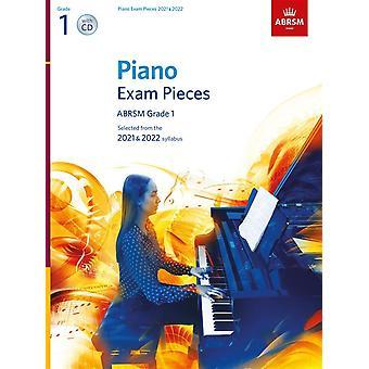 Peças do Concurso de Piano 2021 e 2022, Abrsm Grade 1, com Cd Piano