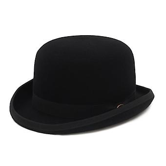 100% Wool Felt Derby Bowler Hat/satin Lined, Formal Fedora Costume Magician