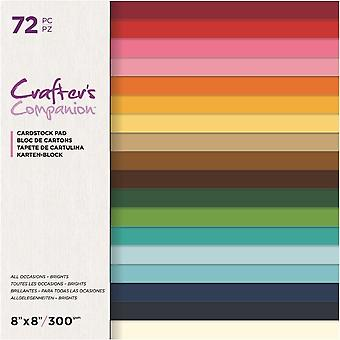 Crafter's Companion All Occasions Brights 8x8 Inch Card Pad