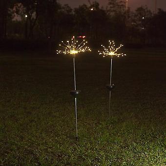 في الهواء الطلق ماء أدى ضوء الشمس - فلاش سلسلة الحديقة الألعاب النارية مصباح