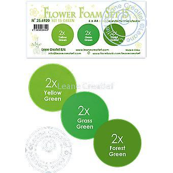 Leane Creatief Flower Foam A4 Set 15 Green