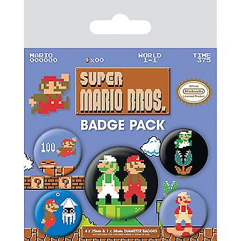 Super Mario Retro Badge Set (Pack de 5)