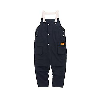 Mens Overalls Loose Fit Casual Pants, Broadcloth, Polyester  Hip Hop Streetwear