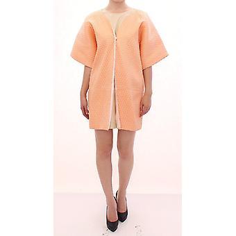 Pink short sleeves jacket coat