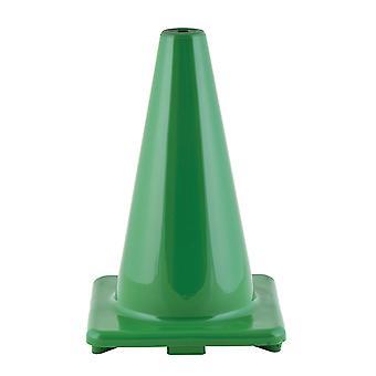 """Cono de vinilo flexible de alta visibilidad, ponderado, 12"""", verde"""