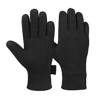 Man Outdoor Riding Fleece Gloves- Winter Light Thermal Sports Full Finger