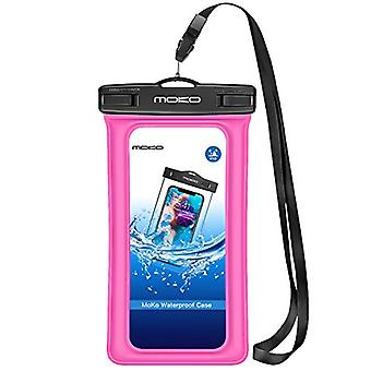MoKo Floating Waterproof Phone Pouch, Floatable Phone Case Dry Bag with Lanyard Armband Compatible with iPhone 11/11 Pro, X/Xs/Xr/Xs Max, 8/7 Plus, Galaxy S10/S9/S8 Plus, S10e, S20, Note 10,Sky Blue