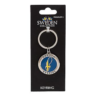 Mapa de lembranças de chaveiro Suécia