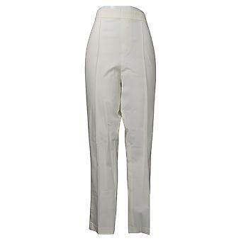 Isaac Mizrahi Live! Women's Pants Stretch Lollipop White A351092