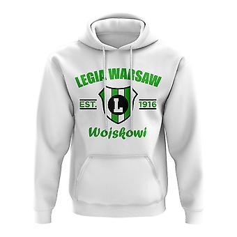 Legia Varsova Perustettu Jalkapallo Huppari (Valkoinen)