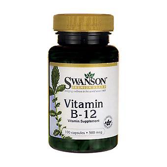 Vitamin B-12, 500mcg 100 capsules