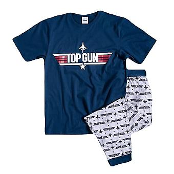 Mænd 's Top Gun Logo manchetter Pyjama Set