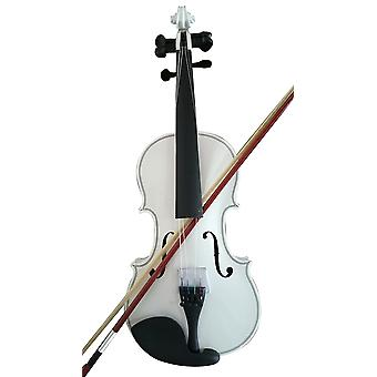 Student Acoustic Violin Full 4/4 Maple Spruce With Case Bow Rosin White Color(4/4)