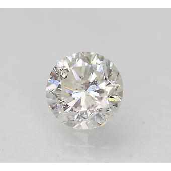 Certifierad 1.10 Carat E SI2 Rund Briljant Förbättrad Naturlig Lös Diamant 6.37mm