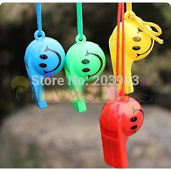 2pcs Colorful Soccer Face Kid Fans Whistle  (ship In Random)