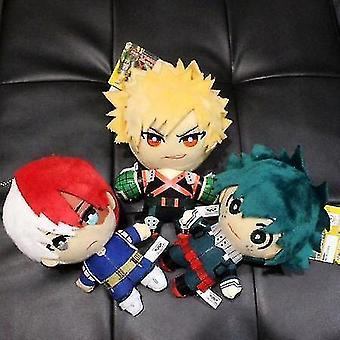 15cm Anime My Hero Academia Izuku Midoriya Katsuki Bakugou Shouto Todoroki Plush Pendant Toy Soft Stuffed Dolls Gift