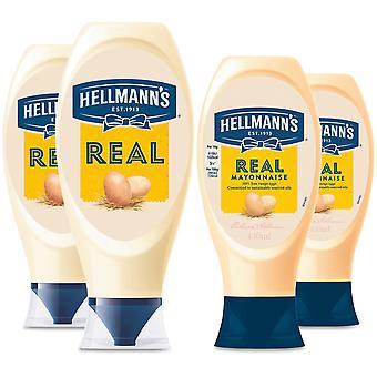 Hellmann's Real 100% Oeufs Mayonnaise libre 2ofEach Bouteilles serrantes de 430ml&750ml