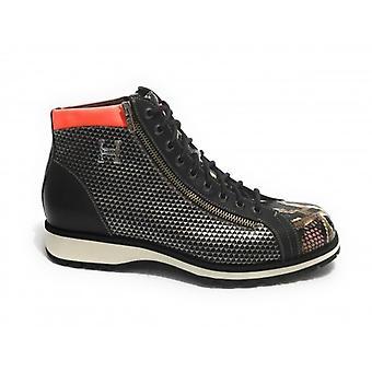 Men's Shoes Harris Polish With Leather Zip Elaphe Purple/ Brown/ Matrix/ Kubric Metal U17ha147
