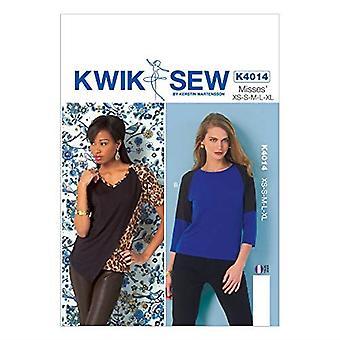 Kwik Sew Sewing Pattern 4014 Misses Tops Size XS-XL