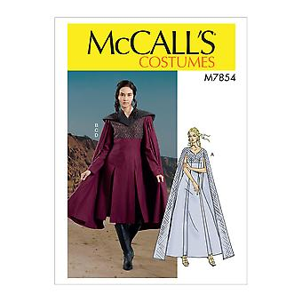 McCalls نمط الخياطة 7854 يفتقد اللباس زي حجم 6-14 Uncut