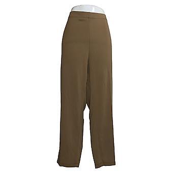 Susan Graver Kvinder 's Petite Pants Milano Strik Pull On Brown A383168