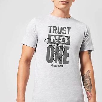 Gremlins Trust One Mogwai Merchandise Mens Short Sleeve T-Shirt Tee Top - Grey