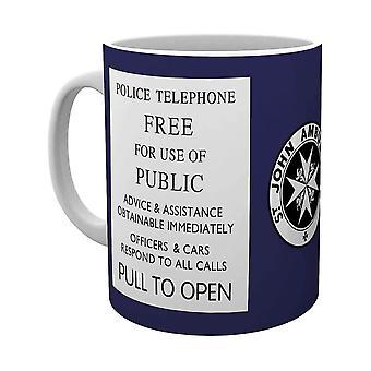 Doctor Who TARDIS Sign Ceramic Mug