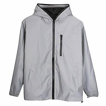 Hip Hop Noctilucent Hooded Jacket  Mens Waterproof Coat Outwear