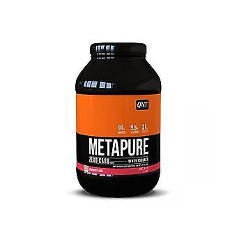 QNT Metapure Zero Carb Fat Free Whey Protein Isolate Powder (Strawberry) 908g