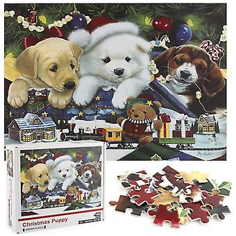 クリスマスの子犬ジグソーパズルユニークな形状ジグソーパズルピース大人の子供のおもちゃギフト