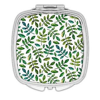 Gift Compact Mirror: Plant Twigs Leaves