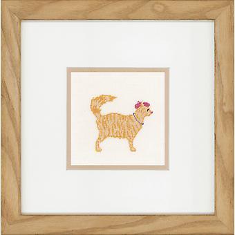 Lanarte räknade cross stitch kit: jazz katter (linne)