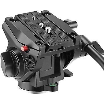 HanFei Heavy Duty Video Kamera Stativ Fluidkopf Schwenkkopf mit 1/4 und 3/8 Zoll Schrauben